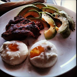Steak, egg and avocado, Buenos Aires, Argentina