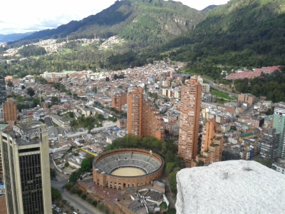 Bogota is a mix of high-rise buildings and mountains